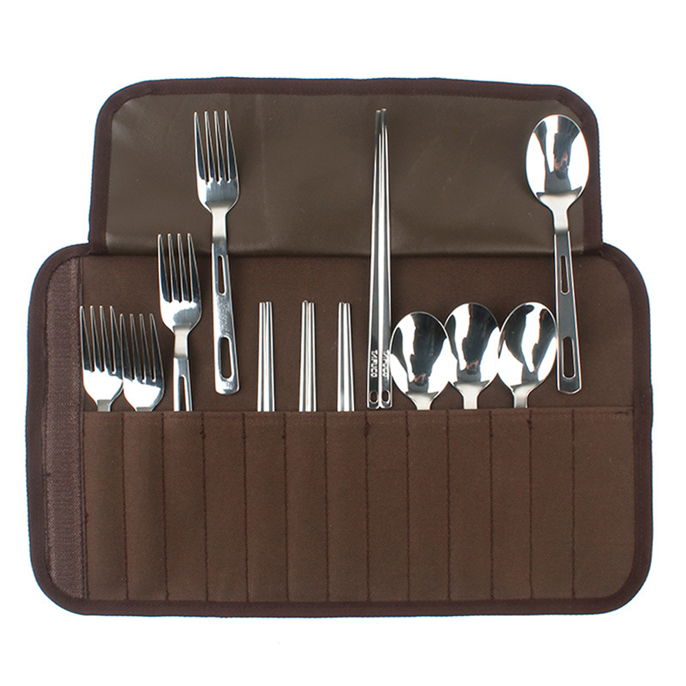 1 Pcs Knife&forks Spoons Cutters Dinnerware Sets Stainless Steel Tableware For Dinner Barbecue Portable Barbecue Picnic Bag Cheap Sales 50%