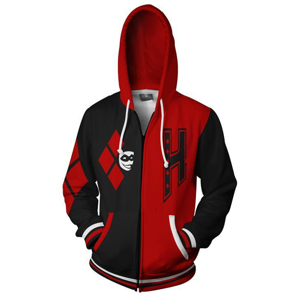 Suicide-Squad-Harley-Quinn-Cosplay-Men-and-women-Costumes-Harley-Quinn-Sweatshirt-Fashion-zipper-Hoodie-School