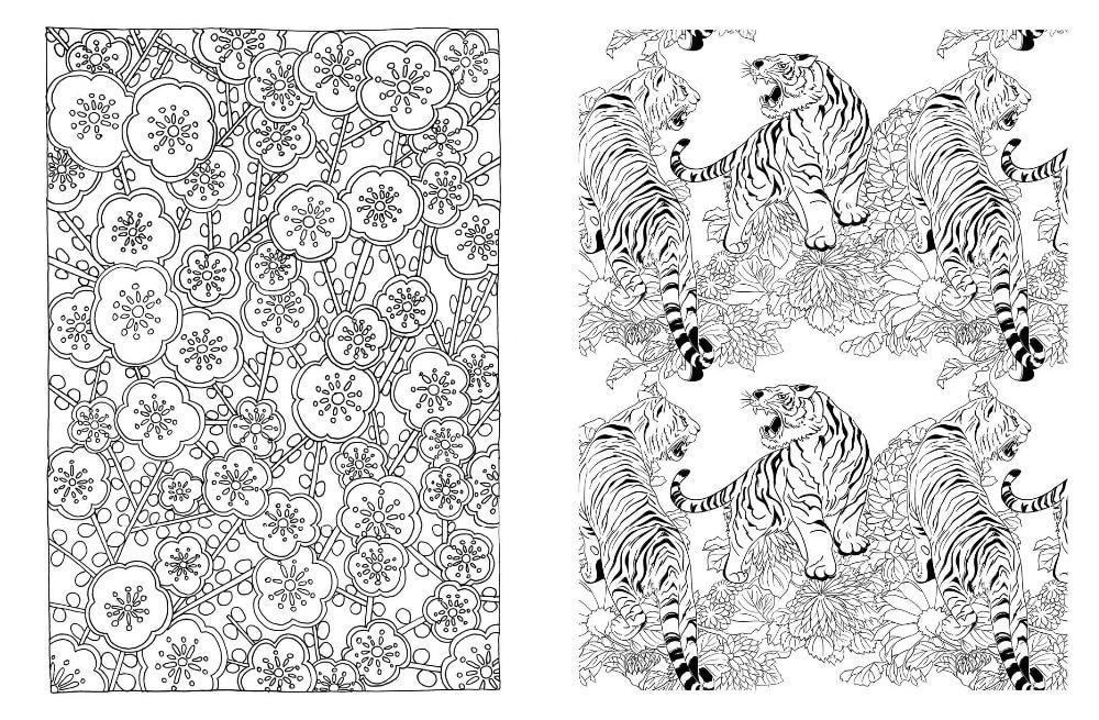 Bonito Libro De Colorear Japonés Componente - Ideas Para Colorear ...