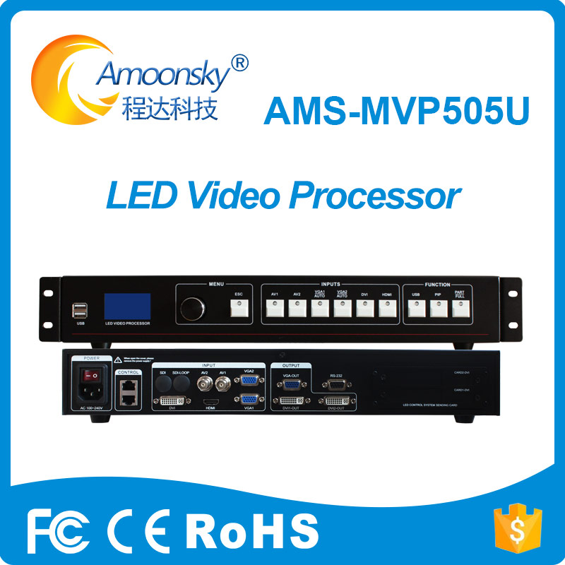 Amoonsky nuovo design multi-funzione led processore ams-mvp505u led display controller usb led video processor