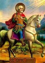 Envío gratis tamaño pequeño arte de la tapicería, estilo religión imagen decoración de la tela, articulación de la pared, viejo hombre librar en caballo