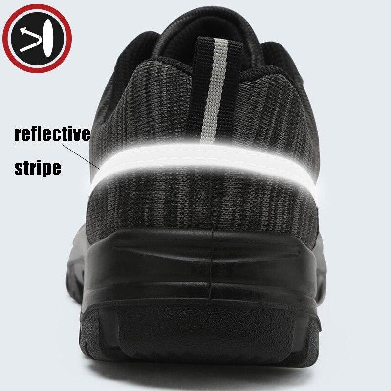 Black Trabalho Ao Segurança À slip Prova Sapatos Larnmern Punção Livre Biqueira Anti Construção Aço Do Botas Ar Homens Dos De YqIpHz
