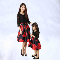 Family Look Dresses Women Girl Baby Clothes Party Mama Mother and Me Clothing Photography Mommy Daughter Dress Matching Outfits