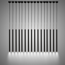 Black led dining room Pendant lamp Simple modern cylindrical tube Nordic Kitchen Light single ended creative Lights Diy