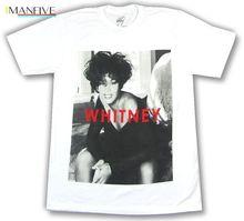 Whitney Houston B&W Portrait Photo Image White T Shirt New Official Merch цена 2017