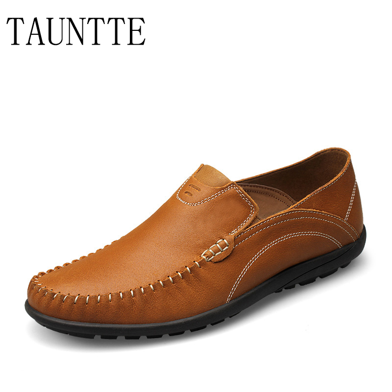 Tauntte New Genuine Leather Men Loafers Fashion Breathable Casual Men Shoes 2017 new autumn winter british retro men shoes zipper leather breathable sneaker fashion boots men casual shoes handmade