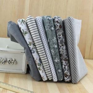 7pcs new gray color 100% Cotton Fabric Fat Quarter Bundle DIY Quilting Patchwork Bedding Tilda Doll Cloth Sewing Fabric 50*50cm