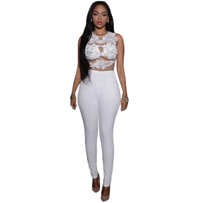 White-Mesh-Lace-Applique-Jumpsuit-LC64037-1