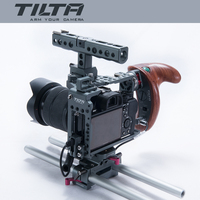 NEW Tilta ES T17 A rig Alpha 7 Cage A7S A7S2 A7R A7R2 Rig Cage Baseplate New Wooden Handle For SONY A7 series camera