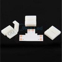 10 Pack 10mm T Shaped Solderless Splitter Coupler Connector For 5050 LED Strip