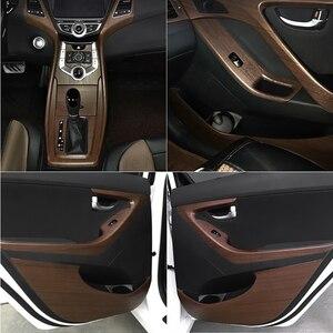 Image 5 - Pegatinas texturizadas para decoración de Interior de coche, de madera de PVC, 30x100CM, accesorios de película de vinilo para muebles, puertas y automóviles, impermeables