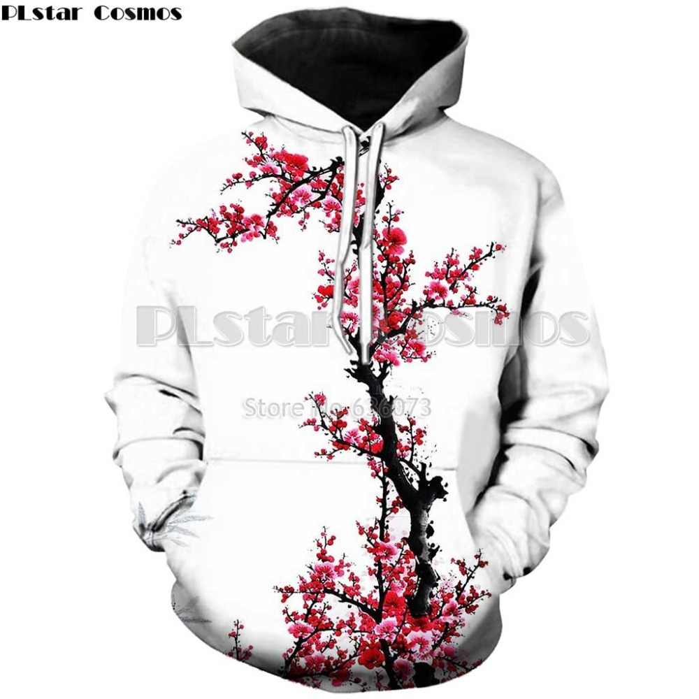 4b82cd2721 PLstar Cosmos Drop shipping 2018 New Fashion hoodies Men's Women's hooded  sweatshirt Cherry blossoms flowers 3d