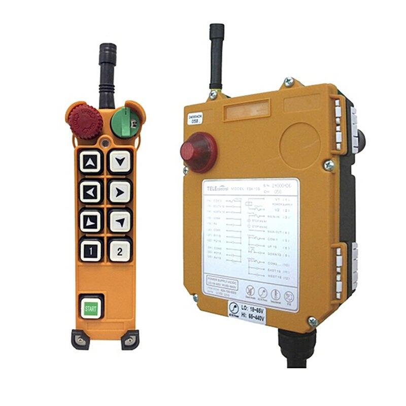 F24-8S AC/DC18V-65V (1 Transmitter + 1 Receiver) Industrial Hoist Crane Wireless remote control industrial hoist crane wireless remote control f21 e1 2transmitter 1receiver ac dc 65v 440v
