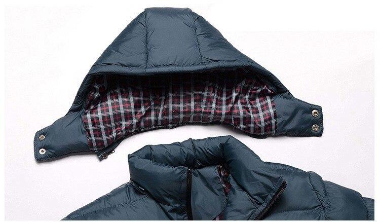 Erkekler Hoody Kışlık Mont Erkek Kapüşonlu Artı Boyutu XXXL 4XL - Erkek Giyim - Fotoğraf 4