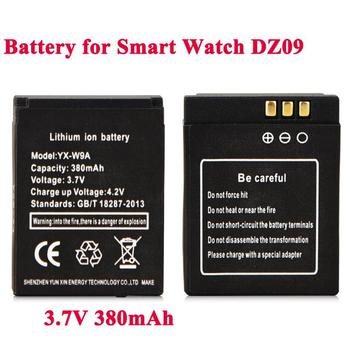 1pc 3.7V 380mAh Rechargeable Battery For Smart Watch dz09 RYX-NX9 SmartWatch Replacement Battery For DZ09 A1 Smart Watch Battery smart watch dz09 white