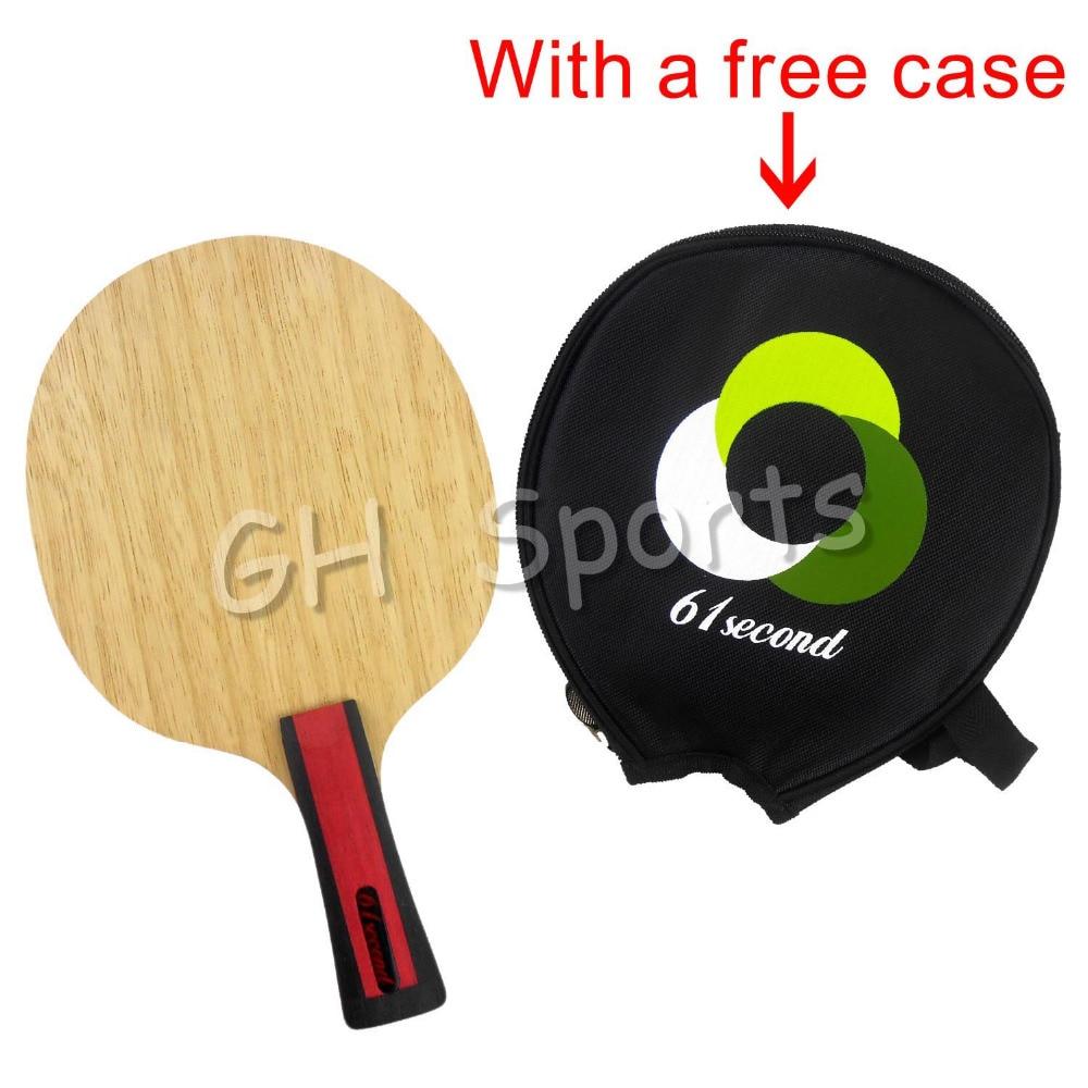 61second 3004 Wooden Table Tennis Blade Shakehand FL con una funda - Raquetas de deportes