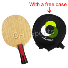 лучшая цена 61second 3004 Wooden Table Tennis Blade Shakehand FL with a free small case