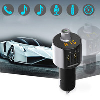 Car Charger LED Digital Display Dual USB Charging Lighter Slot Bluetooth Car Kit Handsfree Set FM