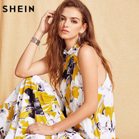 SheIn Womens Summer Long Shift Beach Dresses Ladies New Style Fashion Multicolor Floral Print Sleeveless Maxi