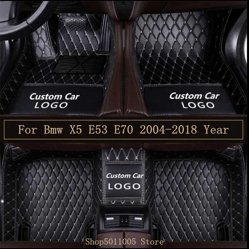 New Leather Car Floor Mats For Bmw X5 E53 E70 2004-2013 2014- 2016 2017 2018 Custom Auto Logo Foot Pads Automobile Carpet CoverNew Leather Car Floor Mats For Bmw X5 E53 E70 2004-2013 2014- 2016 2017 2018 Custom Auto Logo Foot Pads Automobile Carpet Cover