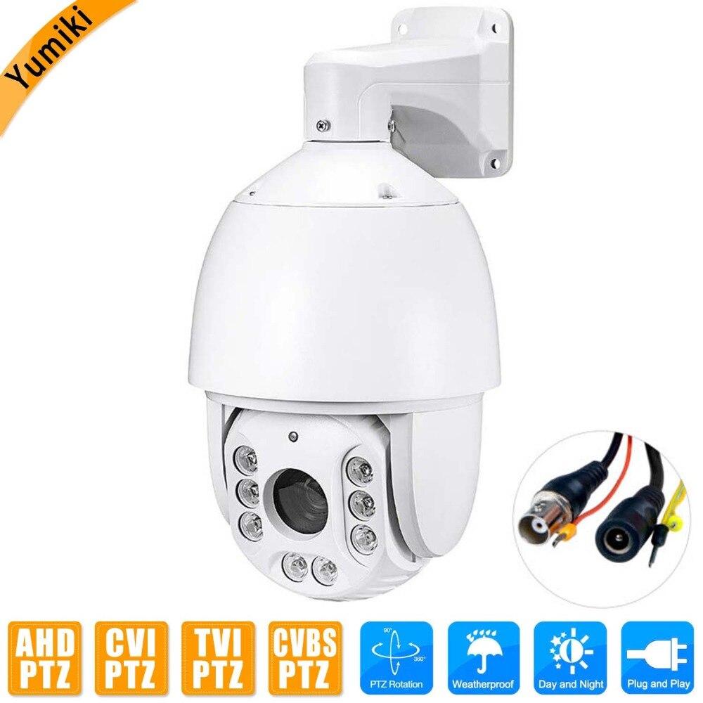 1080 p AHD/CVI/TVI/CVBS 4 dans 1 PTZ Caméra Extérieure 30X ZOOM Étanche Mini Vitesse caméra dôme IR 100 m P2P CCTV Caméra de Sécurité