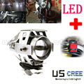Super Bright 125W U5 LED Electric Moto Motorcycle Headlight Driving Fog Light Spot Safety Head Night Lamp + Switch