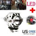 Super brillante 125 w led u5 eléctrica moto motocicleta luz de niebla del faro de conducción spot cabeza lámpara de la noche de seguridad + interruptor