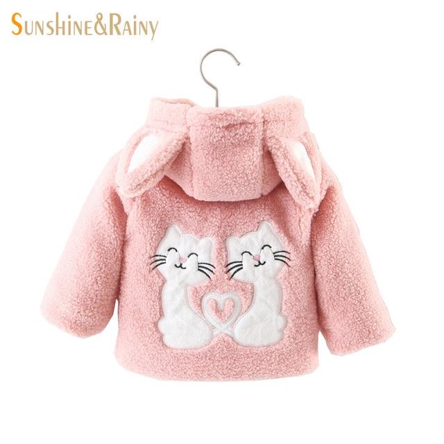 d18c666d577c Clearance ~ Winter Toddler Girls Jackets Cute Cat Baby Girl Lamb Fur ...