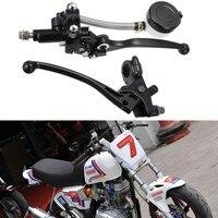 Pair 7 8 Motorcycle Handlebar Hydraulic Brake Master Cylinder Clutch Lever Sport Street Bike Scooter Dirt