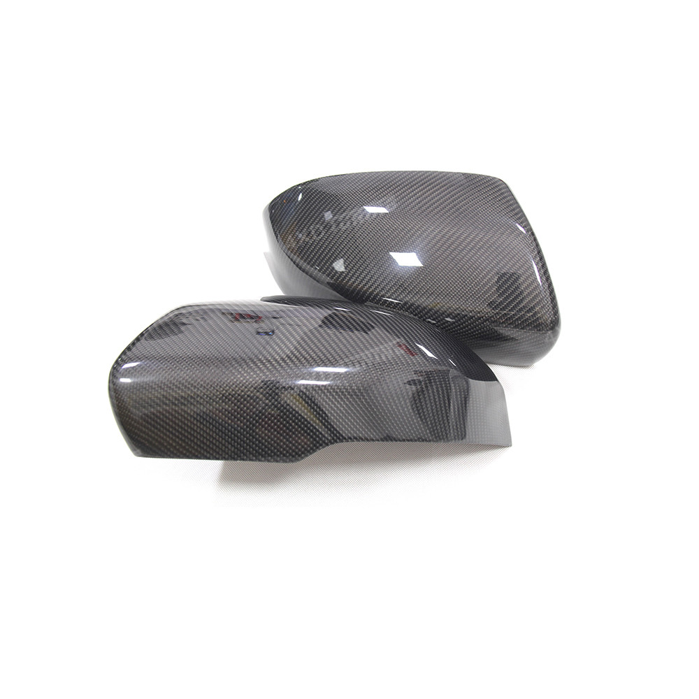For Land Rover Range Rover Evoque Carbon Fiber Rear Side View caps Mirror Cover Replacement &Add On Style Mirror Cover 2012 2013 2pcs abs exterior side mirror cover trim for land rover range rover evoque 2014 2016