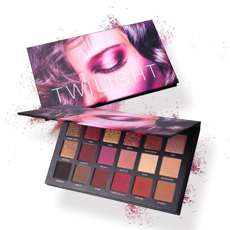 Eyeshadow Palette Glamorous Smokey Eye Shadow Shimmer Waterproof Lasting Colors Makeup <font><b>18</b></font> colors image