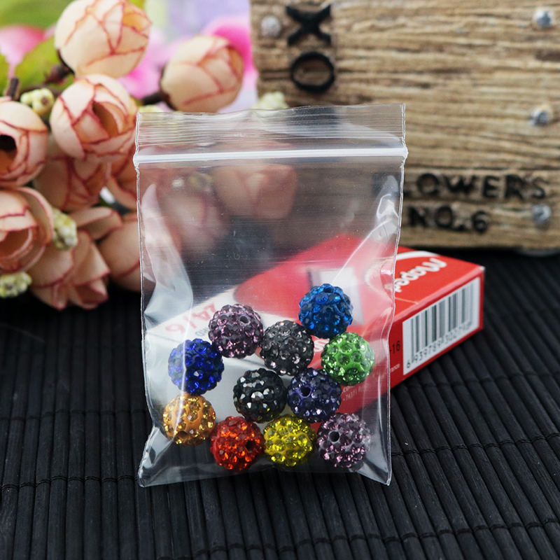 1000pcs/lot 5x7cm 50*70mm Ziplock Bag Zip Lock Self Sealing Reclosable Plastic Clear PolyBag For Components Jewelry
