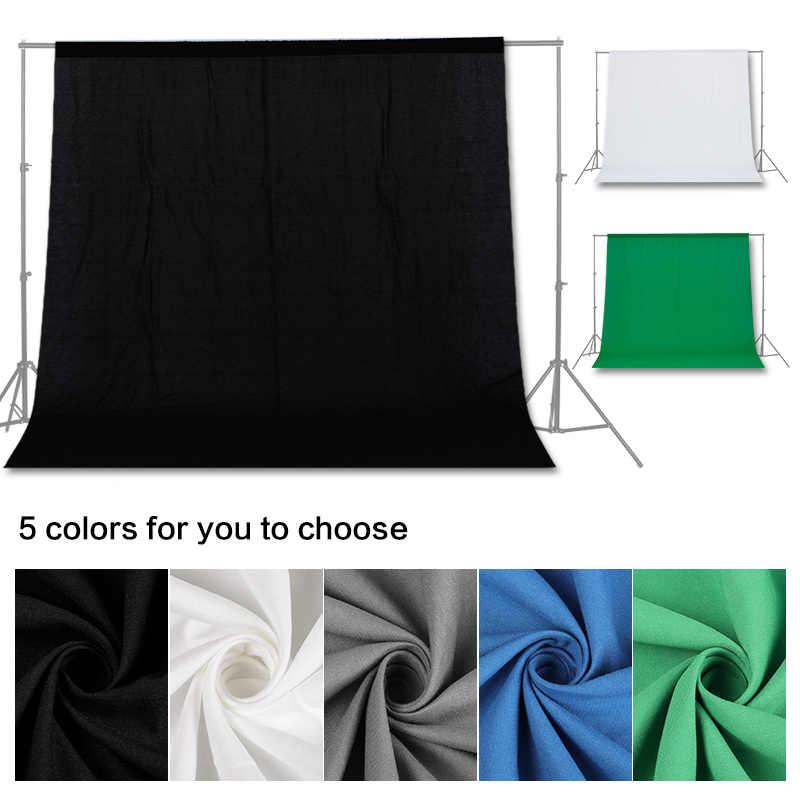 Бесплатная доставка сплошной цвет фоны зеленый экран хлопок муслин задний план фотографии фоновая завеса Studio Chromakey