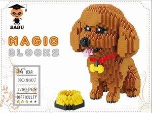 Image 4 - Babu dos desenhos animados mike monster universidade animal cão gato crianças bloco de construção plástico figuras de ação meninos brinquedo educativo 8801 8808