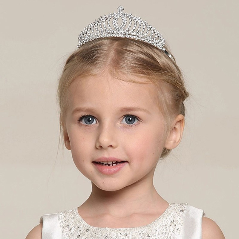 Delicate Rhinestone Princess Girls Crown Tiaras   Headwear   Hair Ornaments For Children Kids CC9459