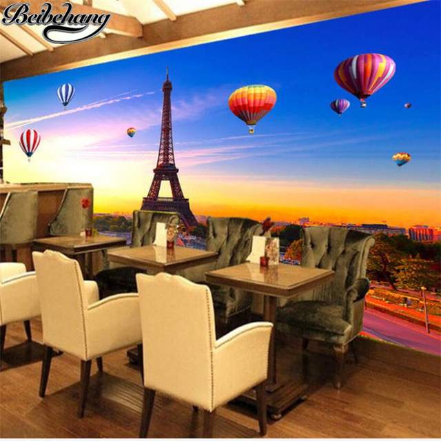 beibehang Custom Wallpaper 3d Photo Mural Fresco Super Elegant Paris ...