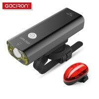 GACIRON USB Rechargeable Bike Light Handlebar Led Bicycle Lights Torch Flashlight With W04 Tail Light Bicycle