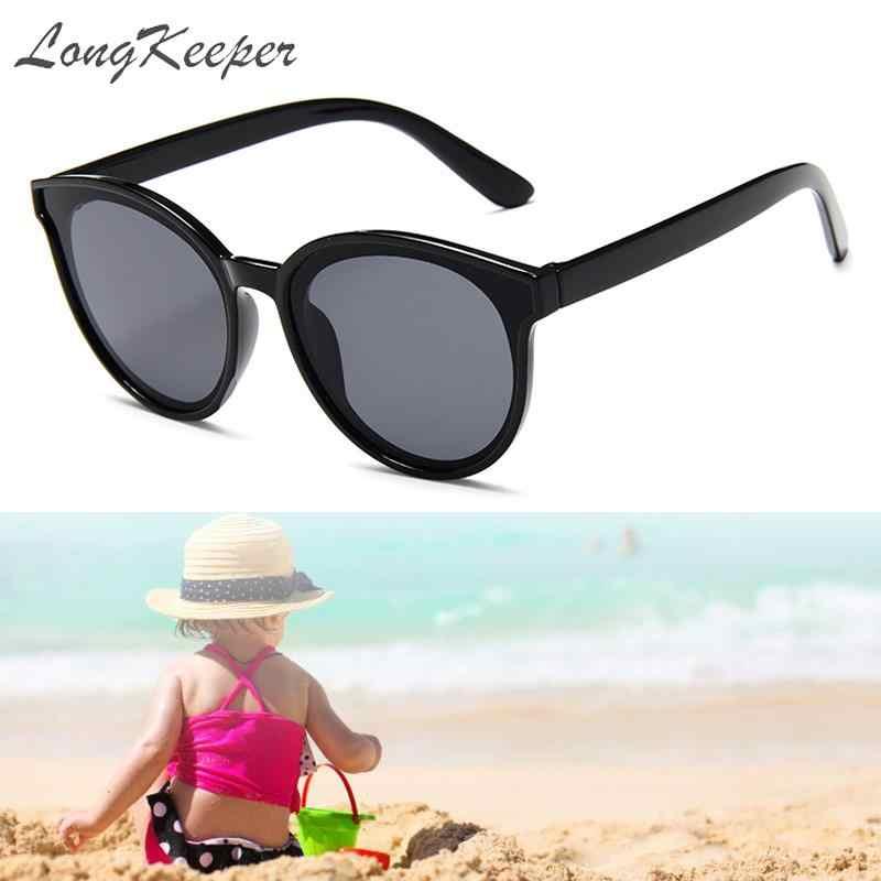"""Солнцезащитные очки &quotкошачий глаз"""" модные зеркальные для детей круглые"""