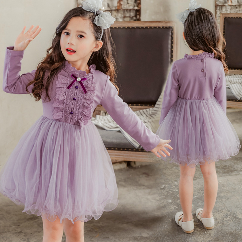 girls princess dress elegant kids dresses for girls fall dress long sleeve baby girl party costumes autumn 2018 children clothes 2017 spring girl lace princess dress 2 14y children clothes kids dresses for girls long sleeve baby girl party wedding dress