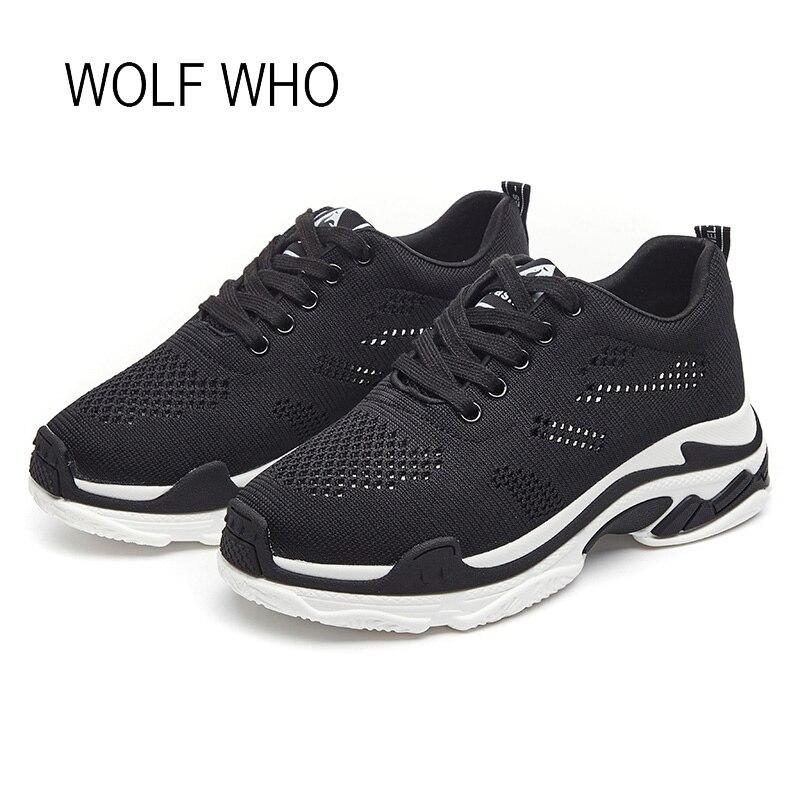 WOLF WHO 2018 White Platform Women Sneakers Ladies Shoes Tenis Femininos Casual Basket Femme Sapatos Femininos h-329 wolf who women winter shoes fur wedge fashion sneakers women hidden heels basket femme tenis femininos casual h 152