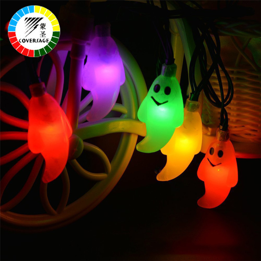 Luces de cadena de hadas de Halloween para fiesta de jardín de 10 Led de batería AA Luces de Luces decorativas para exterior cortina de Luces Led