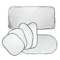 2015 New Vktech 6Pcs Folding Silvering Reflective Car Window Sun Shade Visor Shield Cover