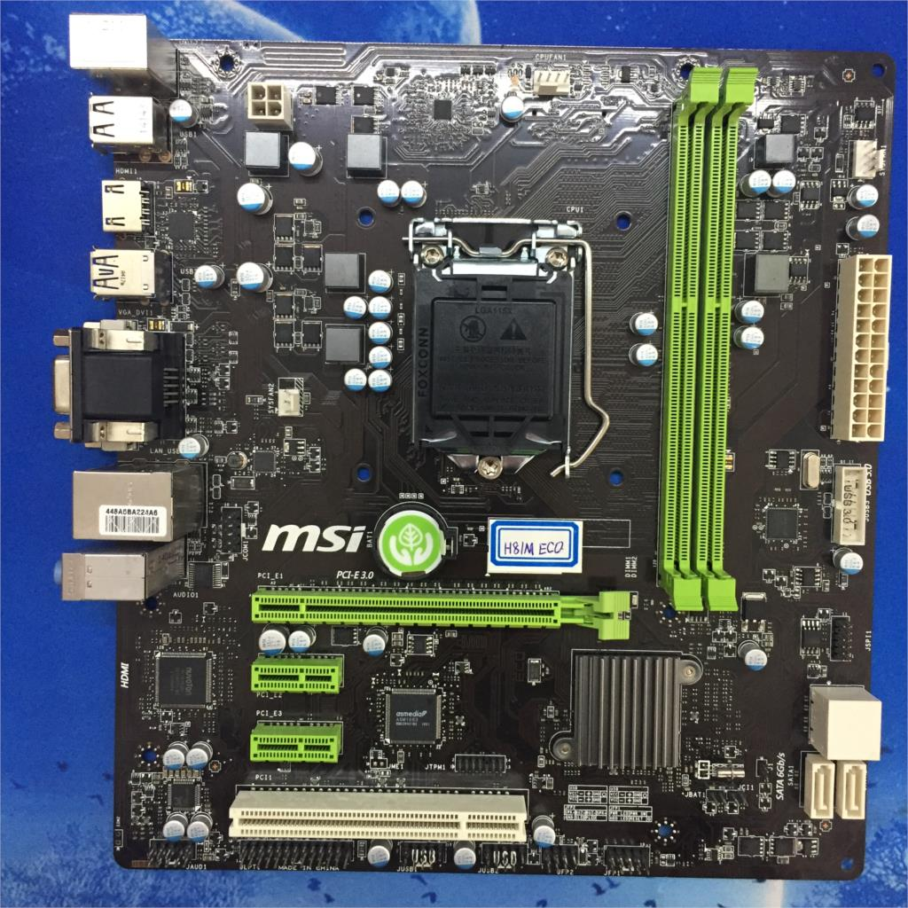 все цены на MSI H81M ECO Low-Power, Energy-Efficient H81 Motherboard 1150-pin Motherboard