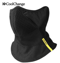 CoolChange Cycling Mask Winter Windproof Elastic Neck Warmer Ear Protection Bike Face Skiing Running Half