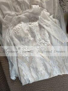 Image 4 - Mryarce מעודן תחרה ארוך שרוול ללא משענת חתונת שמלת 2019 Boho שיק שמלות כלה שמלות הכלה robe de mariage