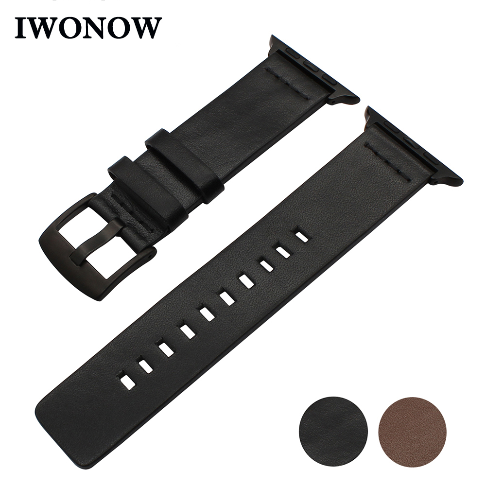 Italian Calf Leather Watchband for iWatch Apple Watch 38mm 40mm 42mm 44mm Series 1 2 3 4 Wrist Band Stainless Steel Buckle Strap italian genuine calf leather watchband for iwatch apple watch 38mm 42mm series 1 2 3 band alligator grain strap wrist bracelet