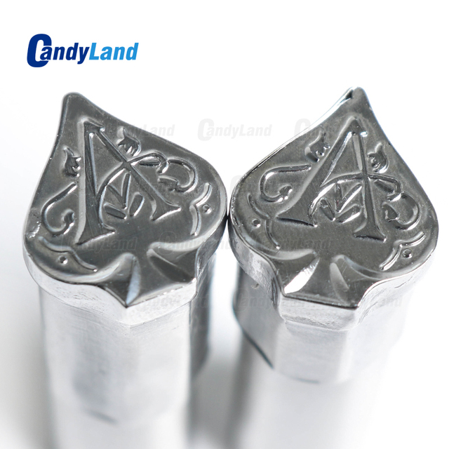 CandyLand Spade A Milk Tablet Die 3D Punch Press Mold Candy Punching Die Custom Logo Calcium Tablet Punch Die For TDP5 Machine