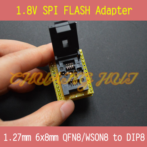 1.8V adapter for Iphone or motherboard 1.8V SPI Flash QFN8 6X8mm W25 MX25 can use on programmers such as CH2015 TL866CS TL866A