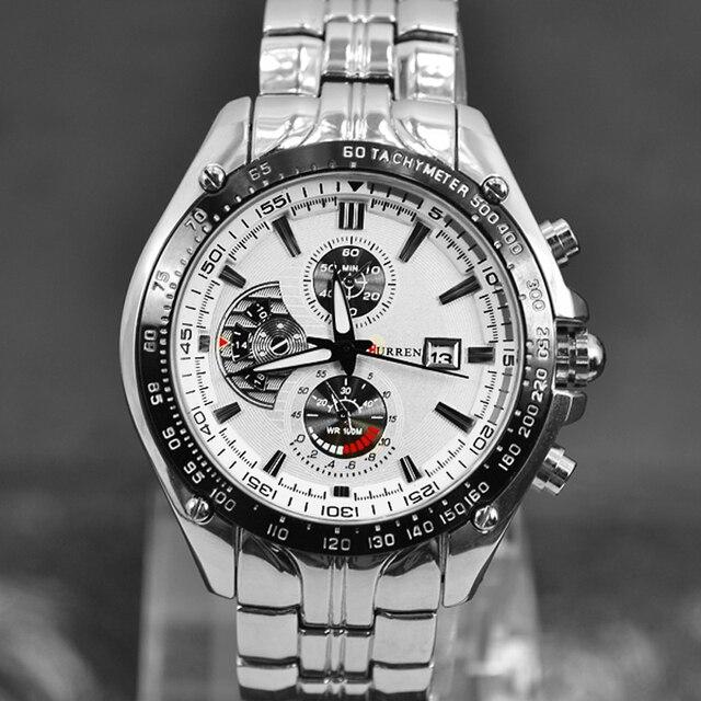 CURREN Male Watch Date Clock Men Full Steel Military Wristwatches Men Watches 2016 Relogio Masculino Montre Homme Quartz-Watch