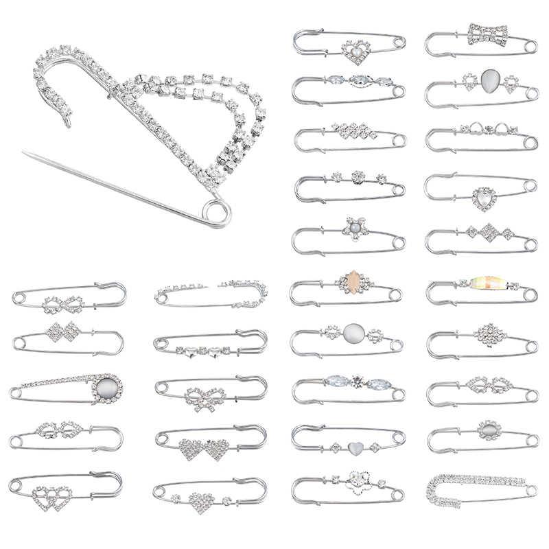 Mjartoria Fashion Wanita Besar Bros Vintage Mutiara Kristal Pin Broches Perhiasan Fashion Ikon DIY Perhiasan